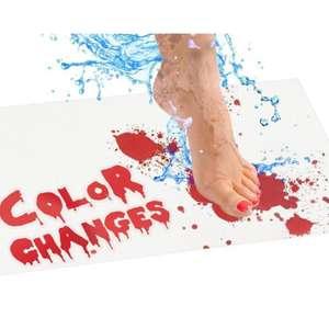 Almohadilla de ducha que al mojarse se pone color sangre (Broma)