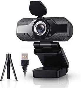 Webcam 1080P Full HD con Micrófono y Trípode