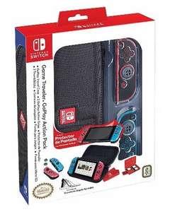 Funda + Grips + Protector Pantalla Original Nintendo Switch GoPlay Action Traveller NNS82
