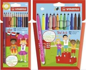Estuches Stabilo: 12 lápices de colores por 1,79€ o 12 rotuladores de fibra por 2€ (Además 4x3)