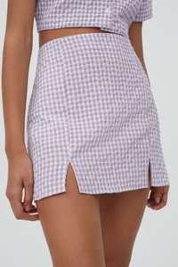 Minifalda cuadros vichy lila 3.99€
