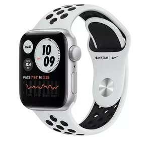 Apple Watch Nike SE, GPS, 40 mm, Caja de aluminio en plata, Correa Nike Sport platino (Tb Modelo 44mm en Negro 289€)