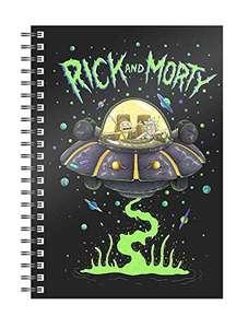 Libreta Espiral Space Ship Rick y Morty