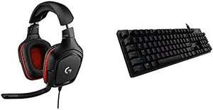 Logitech G332 Auriculares Gaming con Cable + Logitech G512 Teclado Gaming Mecánico