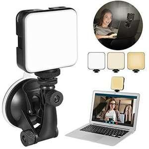 Kit de iluminación regulable para videoconferencias.