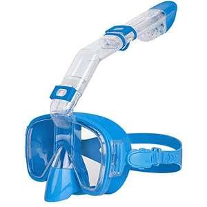 Unigear Máscara de Snorkel, Gafas de Snorkel con Tapa Seca y Plegable Antivaho con Soporte para Cámara