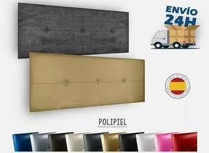 Cabecero Polipiel varios colores (blanco, negro, plata y oro) para cama de 80-90cm