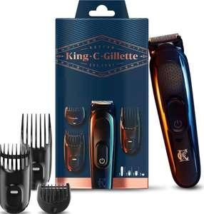 King C. GILLETTE Recortadora de Barba y Cortapelos Inalámbrica + 3 Peines Intercambiables