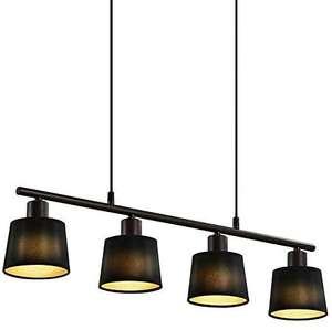 IMPTS Lámpara de techo colgante de tela negra, estilo vintage