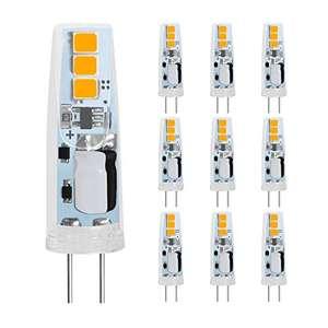 10 Bombillas LED G4 1.5W, Blanco Cálido 2700K