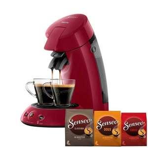 Cafetera SENSEO HD6554/94 rojo + 120 monodosis de café (Amazon precio mínimo histórico!)