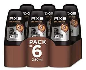 6 x desodorante Axe Dark Temptation roll on 50ml