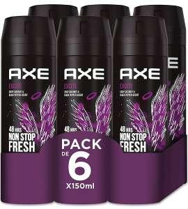 6 x 150ml desodorante Axe Excite Rock