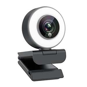 Webcam 1080P Luz Y MicróFono Incorporados Enfoque AutomáTico