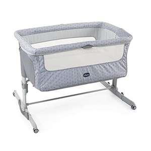 Cuna de Colecho para Bebé con Colchón, Función de Mecedora, Lateral Abatible, Altura Ajustable, Ruedas y Bolsa de Viaje 0-6 meses