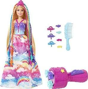 Barbie Dreamtopia Muñeca princesa de juguete con accesorio para hacer trenzas de colores