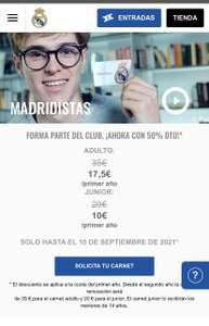 50% de descuento para carnet de Madridista