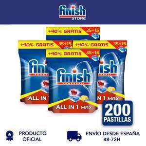 Finish Powerball All in 1 Max, Pack de 4 unidades - 200 pastillas