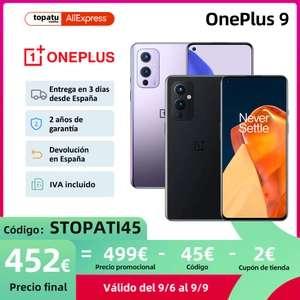 One plus 9, desde España por solo 452€!! desde el 6SEP.