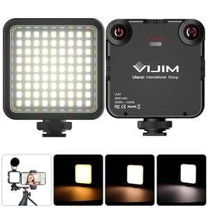 Foco portatil Led VIJIM para video, con batería y ajuste de K (CRI95)