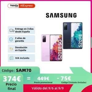 Samsung Galaxy S20 FE desde España por solo 374€!