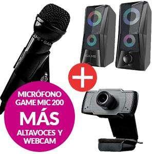 PACK MICRÓFONO MIC200 + WEBCAM WX200 + ALTAVOCES SP210