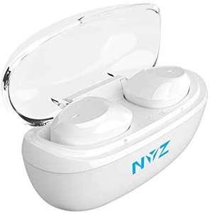 Auriculares inalámbricos con Bluetooth 5.0, Control táctil Sonido estéreo 3D con micrófono y Funda de Carga, Color Blanco (Blanco)