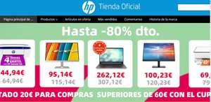 Hasta un 80% en la tienda oficial de HP en Aliexpress CUPON SBWHP20 20€ de descuento,y los demás cupones descuento en vigor hasta el día 10