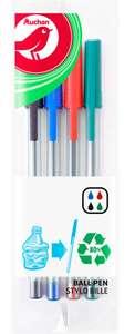 Pack de 4 bolígrafos (verde, azul, negro y rojo) por 10 céntimos (Alcampo Sant Boi)