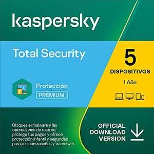 Kaspersky Total Security 2021   5 Dispositivos   1 Año   PC / Mac / Android   Código de activación vía correo electrónico