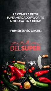 Envío gratis en tu primera compra DelSúper (Mercadona, El Corte Inglés, Lidl, Carrefour, DIA)
