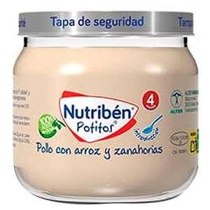 6 Potitos Nutribén Pollo con Arroz y Zanahorias