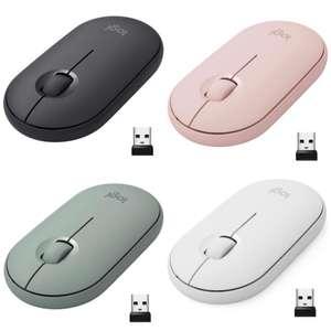 Logitech Pebble Ratón Inalámbrico AHORA 4 COLORES, Bluetooth o 2,4 GHz, Ratón con Clic Silencioso