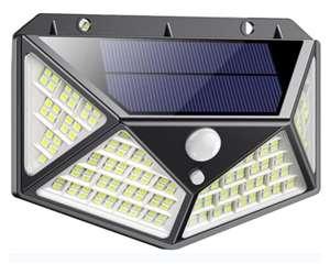 Luz Solar Exterior 162 LED, QTshine Foco Solar con Sensor de Movimiento Gran Angular de Iluminación 270º Lámpara Solar