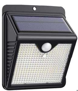 Luz Solar Exterior 150 LED, Foco Solar Exterior con 120 ° Gran Angular Sensor de Movimiento Lámpara Solar Inalámbricas Impermeable