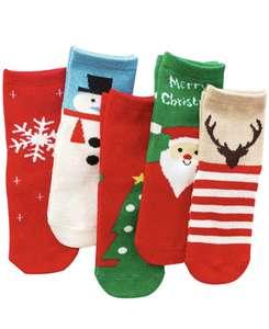 5 pares calcetines navideños infantiles. Talla XL