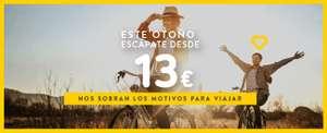 Billetes a partir de 13€ Reserva tus vuelos antes del jueves para viajar a partir del 21 de septiembre.