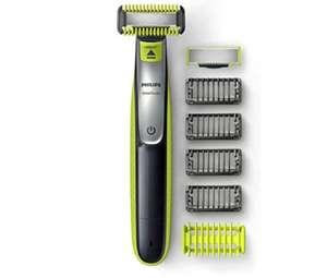 Philips OneBlade Cara + Cuerpo QP2630/30 - Recortador de Barba recargable con 4 Peines-guía para barba y 1 para Cuerpo + Funda