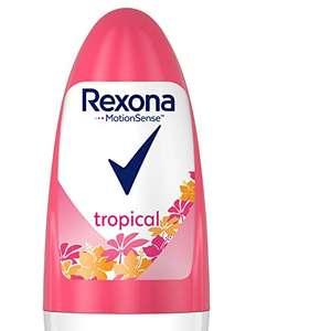 PACK 2 - Rexona Tropical Antitranspirante Roll On para mujer, protección 48 horas - 50 ml