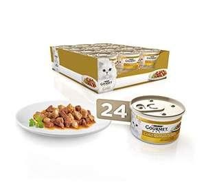 Purina Gourmet Gold Bocaditos en Salsa comida para gatos con Pollo e Higado 24 x 85 g