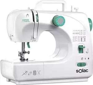 Máquina de coser - Solac SW8231, 16 Puntadas, 2 Velocidades, Blanco