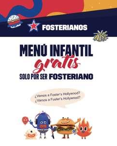 Menú infantil GRATIS solo por ser Fosteriano