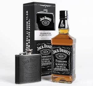 Pack Petaca + botella whisky Jack Daniel's Tennessee 700ml