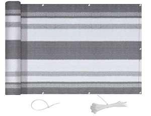 AXT SHADE Pantalla para Balcón Jardín Protección de Privacidad Opaca HDPE 90x600cm, con protección UV