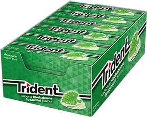 Trident Chicles sin Azúcar con Sabor a Hierbabuena - Paquete de 24 Envases