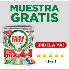 Muestras Gratis de cápsulas de Fairy Platinum Plus para lavavajillas