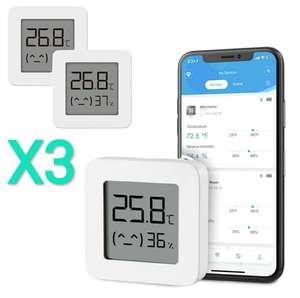 3 x Xiaomi Mijia BT Bluetooth Termómetro Higrómetro digital inteligente inalámbrico