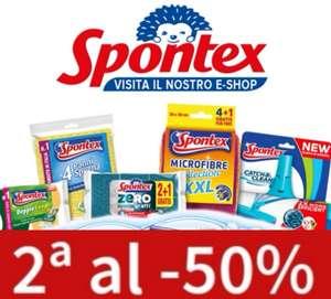 SPONTEX 2° Unidad al 50% de dto.