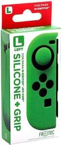 FR·TEC - Funda Silicona + Grip Para Joy- Con Verde Izquierdo - Nintendo Switch, todos los colores y de los 2 lados.