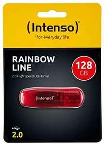 Intenso 128GB Rainbow Line USB2.0 - Memoria Flash USB de 128 GB (28 MB/s,), Rojo
